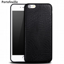 Portefeuille Crocodile Case Luxury Soft TPU Phone Cover Protective Shell for Apple iPhone 7 Plus 6 6S 5 5S SE Mobile Accessories
