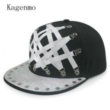Kagenmo Cool Flat Brim Baseball Cap Hip Hop Sports Hat Team Show Cool Cap Fashion Outdoor Novelty Visor Unisex 5pcs/lots(China)