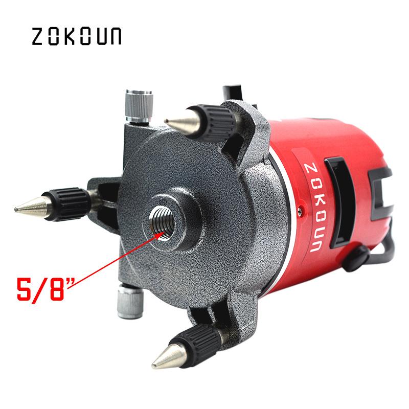 EU plug cloth bag ZOKOUN 360 degrees rotary tilt slash functional 5 lines 6 points outdoor mode cross line laser leveler