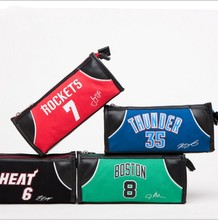 New high-quality jersey pencil case high-grade double-layer high-capacity multi-function heat James stationery bag