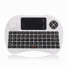2.4Ghz Mini Wireless Keyboard Mouse Touchpad for Smart TV PC Laptop Tablet Mini Wireless Keyboard Electronic Bluetooth Keyboard(China)