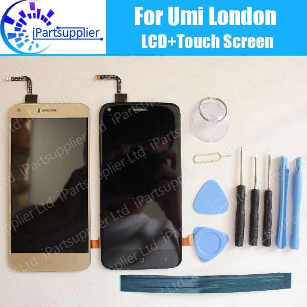 Umi London LCD Display+Touch Screen 100% Original LCD Digitizer Glass Panel Replacement For Umi London+ tools+ Adhesive<br><br>Aliexpress