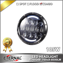 4pairs-105W 7 inch Round LED Headlight offroad PAR56 signal headlamp with DRL for Wrangler 07-15 CJ TJ JK hummer motorcycle lamp