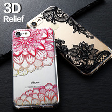 original For iPhone 6 6s case for iPhone 6s 5 5s SE 6plus Case TPU Case butterfly Flower Case Accessories Cover 3D coque Capa