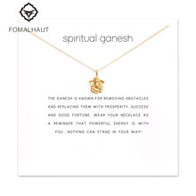 Buy Sparkling spiritual ganesh elephant Pendant necklace Clavicle Chains Statement Necklace Women FOMALHAUT Jewelry for $1.09 in AliExpress store