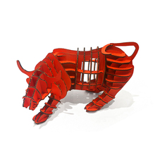 3d Puzzle Wall Street Bull Model Toy Kids Adults DIY Craft Games Children Cardboard Animal Papercraft Art Decoration Cool Gifts