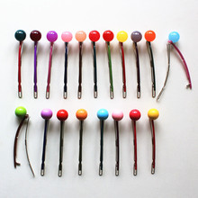 11cm big size Popular Acrylic Jewelry Jelly Color Ball Hairpin Makeup Hair Maker Accessory Toe Colorful Hair Clip Bobby Pins