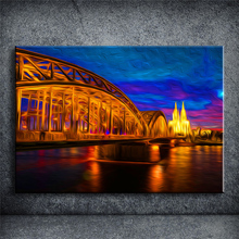 HD Picture Birdge Oil painting Modern Home WallDecor Canvas Art high definition Print Painting for living room No frame YOQP059(China)