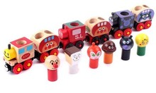 Kingtoy Boy And Girl Railway Toy Thomas Train Wood Train Cartoon Magnetic Van With Color box The Best Gift For Your Baby