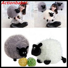 Actionbabei Hot sale! 1PC New Cute Stuffed Soft Plush Toys Sheep Character Kids Baby Toy Shaun Baby Doll gift White/Gray