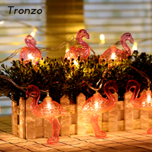 Tronzo 10Pcs Hot Sale Flamingo LED String Light Pineapple 1.65M For Tropical Party Supplies Wedding Decoration Bird Garland