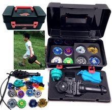 Metal Master Rapidity Fight Super String Rare Beyblade 4Dspin top with Launcher Grip spare parts and box(China)