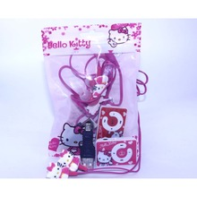 2015 fashion Hello Kitty MP3 Music Player Support Micro TF Card With Hello Kitty Earphone&Mini USB