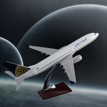 40cm Resin B737-800 United Airlines Aircraft Model United State Boeing 737-800 Model Wholesale Creative Travel Gift Handcraft(China)