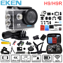 Original Eken H9/H9R action camera 4K wifi Ultra HD 1080p/60fps 720P/120FPS Go waterproof mini cam pro bike video sports camera