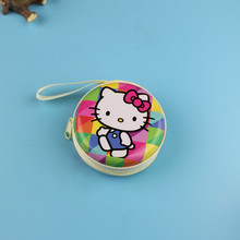 Hello kitty Earphone Wire Organizer Box Tin plate Zipper Package Data Line Cables Storage Box Case Container Organizer Coin Box