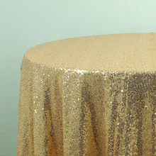 GOLD Sparkly Sequin TableCloths Christmas Birthday Wedding Table Decoration Round