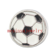 10pcs football  floating charms for glass locket Min amount $15 per order mixed items,FC-002