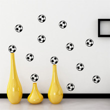 News ports boys bedroom art Wall Sticker Personalized Football Soccer Ball wall sticker For Kids Rooms Nursery Decor(China)