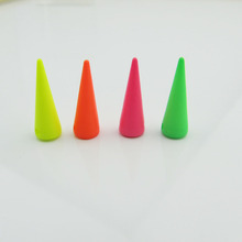 6*20mm plastic spikes hot pink cone tree accessories DIY stud,50pcs/lot,on sale punk decoration spike with 2 holes sew on stud(China)