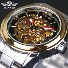 Automatic Mechanical Skeleton Watch Gold Watch Men Watches Top Brand Luxury Relogio Male Clock Men Casual Watch Montre Homme