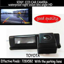Parking Assistance  SONY CCD HD Car RearView Reverse Backup Color Camera night vision led for Toyota CAMRY Picnic Verso Yaris