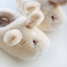 Winter Lovers Style Lovely Animal Plush Slippers For Home Men&Woman Shoes Dog Shape Soft Warm Fluffy Slipper Fit Best Gift Girls(China)