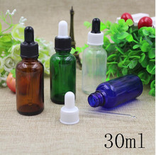 Free Shipping 30ml Empty Essential Oil Glass Dropper Bottles New Style Top Grade Parfume Liquid Packaging Cosmetic Containers