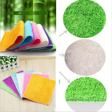 1pc High Efficient Anti-grease Color Dish Cloth Bamboo Fiber Washing Towel Magic Kitchen Cleaning Wiping Rags(China)