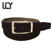 [LCY] Newest Designer Belts Men Luxury Suede Leather Belts for Men Eco-Friendly Pin Buckle Split Leather ceintures homme 350362(China)