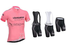 2014  Tour De Italy italia Pink Short Sleeve Cycling Jersey (bib) shorts Set Bike Bicycle Wear Clothes Clothing