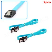 2pcs New SATA III SATA3 SATA3.0 Data Cable Straight Hard Drive Cable(China)