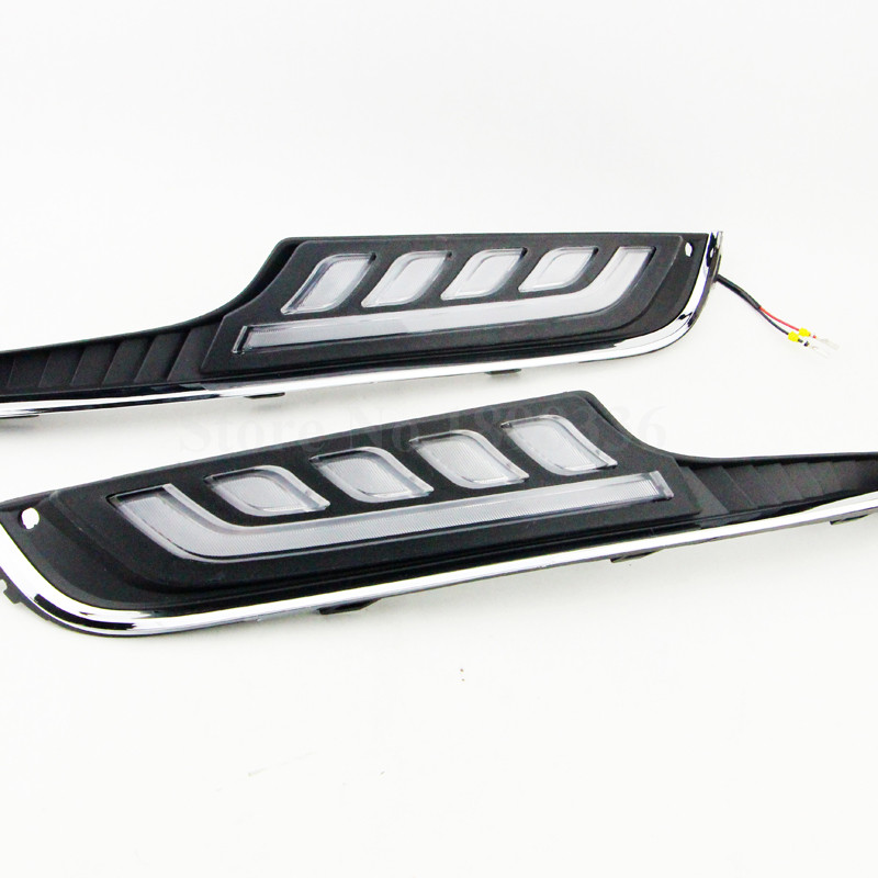 2pcs/pair White LED Daytime Day Fog Running Light Lamp DRL For VW Volkswagen Golf 7 MK7 2014-2015<br>