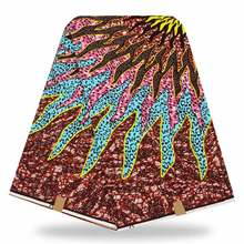 Panic Buying Wax African Print For Sewing Dress African Wax Prints Fabric Super Wax Hollandais(China)