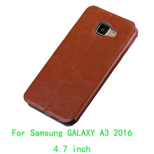 For Samsung GALAXY A3(2016) A310 Case Flip PU Leather Cell Phone Case For Samsung A3(2016) Book Style PU Leather Stand Cover