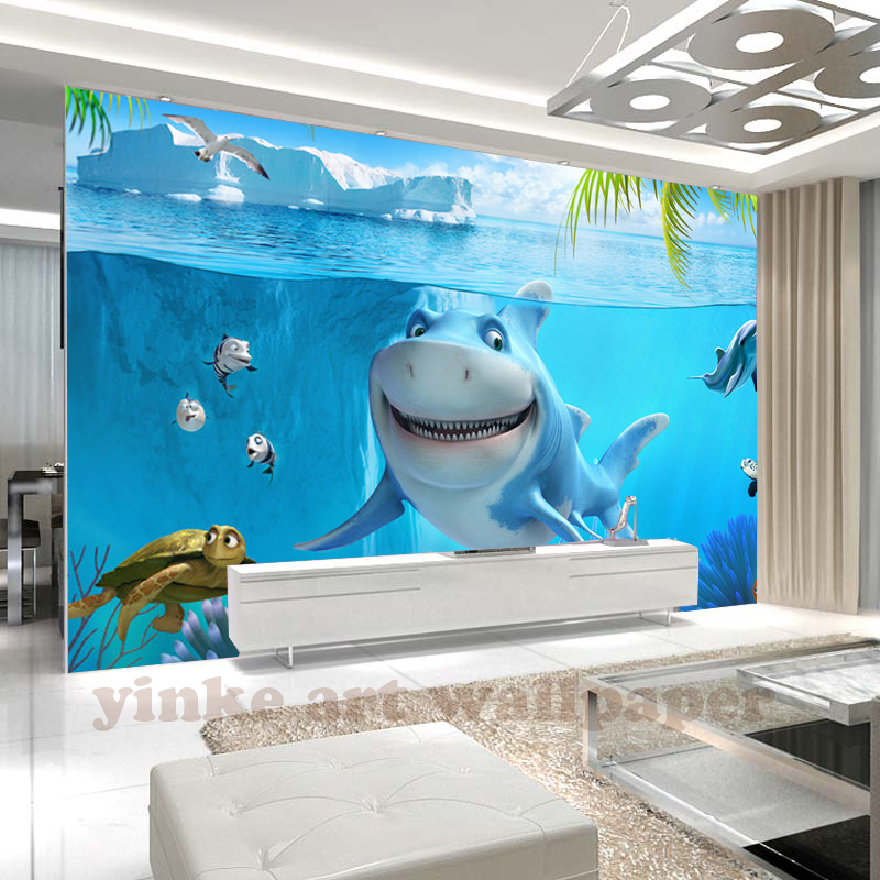 HTB1Gx9La138SeJjSZFPq6A vFXaO - Custom 3D Mural Wallpaper Non-woven children Room wall covering Wall paper 3d stereo sea world 3D kid Photo Wallpaper Home Decor