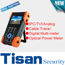 Economic cctv tester 3.0TVI IP Analog cctv test monitor with Digital Multi-meter ,Cable Tracer and  Optical Power Meter Test