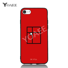 Squares Geometric Abstract Fun Art For iPhone 6 6s 7 Plus Case TPU Phone Cases Cover Mobile Protection Decor Gift