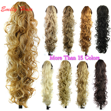 Claw Clip Ponytail Extension Wavy Curly Synthetic Ponytail Hair pieces postizos de cola de caballo larga coleta postizos