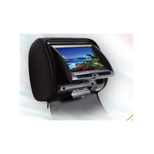 New 7 Inch Car Headrest DVD Player With FM Dual Channels IR Transmitter Analog TV Tuner Optional With Remote Control