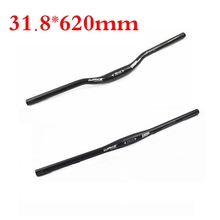 Road mountain bike handlebar Aluminium alloy Cycling Riser/Flat Handlebar MTB 31.8mm * 620mm bike parts black(China)