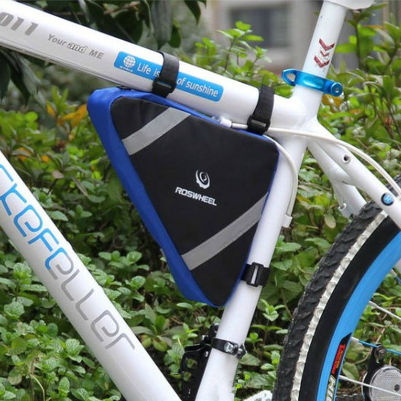 Triangle Pouch Bike Bag Bicycle Accessories Front Tube Frame Luggage Bags Saddle Cover BicyclesCellphone