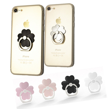 Four Leaf Clover Phone Finger Ring Holder Cellphone Stand 360 Degree Rotating Phone kickstand For mobile device and tablets