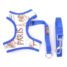 Canvas Small Cat Dog Vest Harnesses Breathable Teddy Bichon Chihuahua Yorkshire Puppy Dog Leashs Strap Pet Product 4 Styles