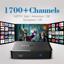 MAG 250 Iptv Set Top Box Italy Linux Smart TV STB HD IUDTV Europe IPTV account Subscription 1 year French Arabic Media Player