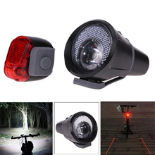 Bright 3W LED Bike Light Waterproof Front Light Tail Light Set Bicycle Safety Lamp Flashlight 3 Mode Night Riding Accessories
