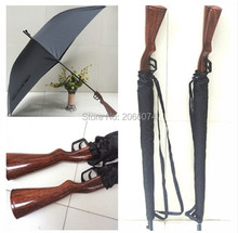 Novelty Item newest cool Black Lifelike Rifle / Gun Pistol Umbrellas For Men for gift 30pcs Free DHL/Fedex(China)