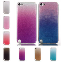 Silicon Cases for iPod Touch 6 Glitter Back Cover Shiny Phone Cases for Apple iPod Touch 5 iTouch 6 Bling Coque Soft Gel Capinha(China)