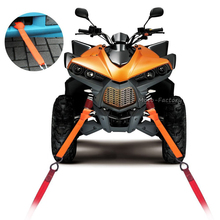 4 Pcs Soft Loops Motorcycle Tie Down Straps Towing Ropes Prevent Scratches Motocross Motorbike ATV Dirt Bike 12'' 30cm Orange