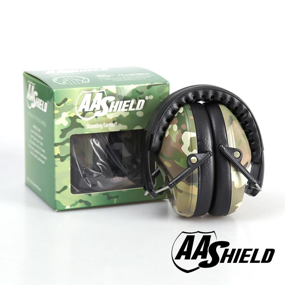 AA Shield Soundproofing Mini Ear Muff Shooting Hearing Protector Noise Reduction Tools 25.8DB Camo Reduce the DB Free Shipping<br>
